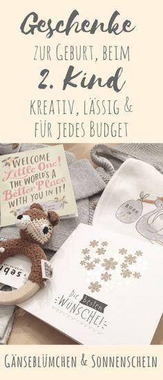 Die besten Geschenke zur Geburt fürs 2. Kind - kreativ, lässig und für jedes Budget! Tolle Geschenkideen für Babygeschenke.