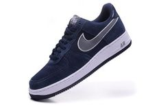 9c2d2b37116956 Nike Air Force 1 Low Suede Midnight Navy Cool Grey White 488298 433 Mens  Sneakers Nike