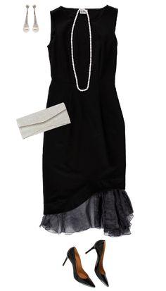 PHILOSOPHY 裾オーガンジーノースリーブドレス