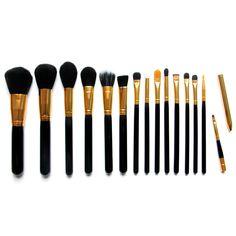 15pcs/Set Pro Women Cosmetic Brushes Set Powder Eyeshadow Foundation Face Blushes New Makeup Beauty Kits Tools 131-1021 #Affiliate