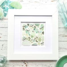 Sea Glass Beach, Sea Glass Art, Sea Glass Jewelry, Broken Bottle, Beach Art, All Pictures, Gift For Lover, A Table, Mosaic