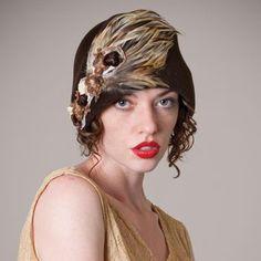 Louisegreen5 Jazz Age Lawn Party, Millinery Hats, Flapper Style, Head Accessories, Cloche Hat, Drop Waist, Gatsby, Headpiece, Dark Brown