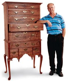 Woodworking: Early American, Queen Anne, Chippendale on