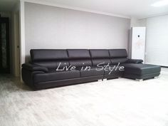 leather l shaped couch | Found on sofasale.com.hk