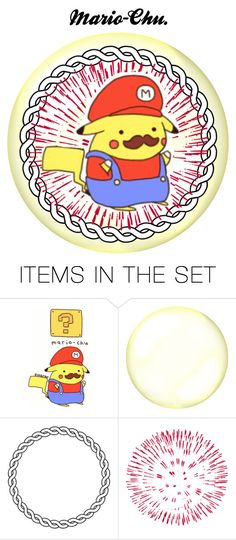 """Mario-Chu."" by marshmallowgoddess ❤ liked on Polyvore featuring art"
