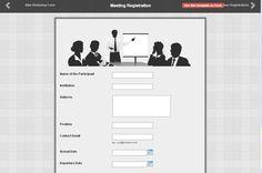 Registration Form, Online Form, Bar Chart, Templates, Space, Floor Space, Stencils, Bar Graphs, Vorlage