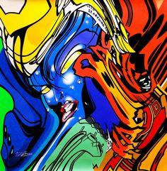 Né en 1976 en banlieue parisienne, Pro 176 est de ces artistes qui ont marqué l'histoire de la scène française du graffiti de la fin des années 90. Il développe un style si particulier mêlant lettrages futuristes et Comics. Passionné par les dessins de Jack Kirby qu'il n'a eu de cesse de reproduire enfant, Pro176 dirige tout son travail sur les Marvels et les supers héros. En savoir plus.