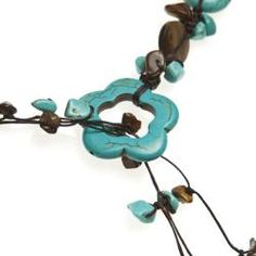 @Overstock - A fun lariat necklace that features Reconstructed Turquoise, Tiger's Eye and Mother of Pearl on cotton rope strand. This necklace was handcrafted in Thailand by artisan Jeab.http://www.overstock.com/Worldstock-Fair-Trade/Lariat-Glam-Turquoise-Tigers-Eye-Wrap-Around-Necklace-Thailand/6668993/product.html?CID=214117 $38.24