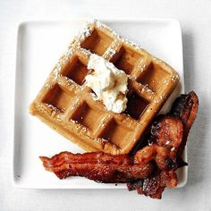 #HappyFriday! Celebrate the beginning of the weekend with the perfect sweet and savory combination! Waffles and Bacon! Photo Cred: @thebaconparty