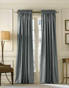 vorhänge grau gardinenstoff glänzend