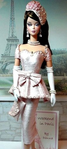 """Haute Couture for Paris"" Barbie Fashions: Love HAT 600 pins? -- Bridal Gowns -- Purses - Hats - For Purchase* - Fashions/ Designer wear Play Barbie, Barbie I, Barbie World, Barbie Dress, Barbie And Ken, Barbie Clothes, Barbie Bridal, Barbie Outfits, Barbie Vintage"