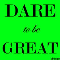 Dare to be great. #motivation #inspiration #health #fitness