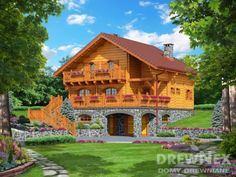 Jaskółka II - Domy drewniane letniskowe - DREWNEX Cabin, House Styles, Home Decor, Rustic Homes, Homes, House, Wish, Decoration Home, Room Decor