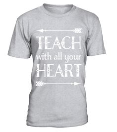 """# Teacher T-shirt Back To School Teaching Appreciation Gift .  Special Offer, not available in shops      Comes in a variety of styles and colours      Buy yours now before it is too late!      Secured payment via Visa / Mastercard / Amex / PayPal      How to place an order            Choose the model from the drop-down menu      Click on """"Buy it now""""      Choose the size and the quantity      Add your delivery address and bank details      And that's it!      Tags: Teach with all your heart…"""