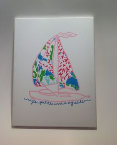 New on my Etsy shop!! Lilly Pulitzer Inspired Hand Painted Let's Cha Cha Painting by BridgeBOWtique