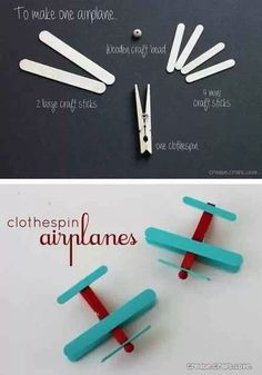 How to make a clothespin airplane