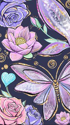 Cute Wallpaper Backgrounds, Pretty Wallpapers, Screen Wallpaper, Cellphone Wallpaper, Iphone Wallpaper, Butterfly Wallpaper, Mandala, Background Pictures, Pattern Wallpaper