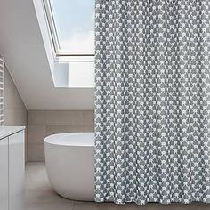 blue white grey shower curtain - Google Search