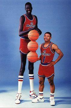 Manute Bol and Mugsy Bogues - Tall & Small - Washington Bullets -