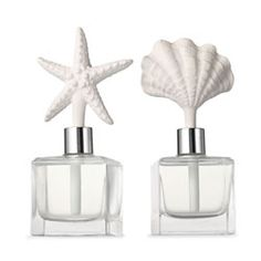 If you can't get to the beach, these porcelain fragrance diffusers bring the summery scent of an ocean breeze to you.