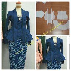 #Pattern #Pola @menjahits 💗 👗KEBAYA from Java, Indonesia, traditional women's dress/blouse #Classy #Lady #fashionable  #HappySewing Semoga bermanfaat,  Selamat #menjahit #sewingpattern #bernina #idea #love #sewing #patternmaking #fashion #kebaya #poladress #dresspattern #drafting #dress #designer #instagood #igers #style #enjoy #woman #party #sewist