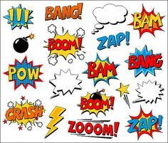 Superhero Clipart Comic Book Clip Art Comic Text by YarkoDesign