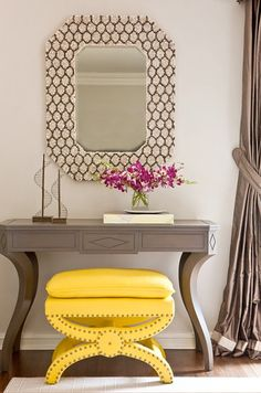 LOVE this yellow stool
