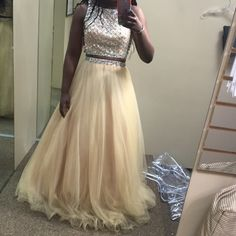 Gold Prom Dress! Size 8, worn once. Alexia Designs Dresses