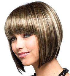 I'm thinking of getting my hair cut short (again lol) . . . option 1 . . . Pros=the bangs are totally awesome and the style would work well with my face shape. Cons=fairly similiar to what I had before minus the bangs (I want something different this time)
