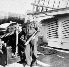 US sailor on deck, 1864.