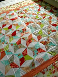 Sew Kind Of Wonderful: Before and After Quilting - good visual of how quilting changes the look.