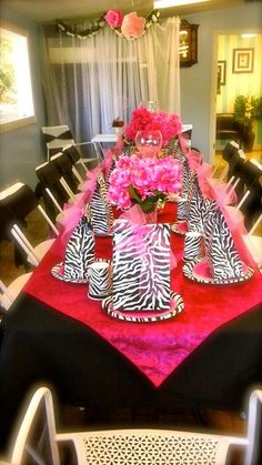 """Photo 1 of 12: Zebra & Hot Pink - Princess Party / Birthday """"Alyssa's Princess Party - Make-up and Nails"""" 