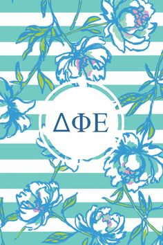Delta phi epsilon Lilly monogram iPhone background!!  Send requests to jenia.litprobs@gmail.com