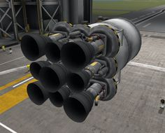 """Nine-engine core stage:  """"This engine configuration actually beats mainsails in both thrust and ISP in many payload setups, especially if you use it as the core of an asparagus-style rocket with a heavy payload. """""""