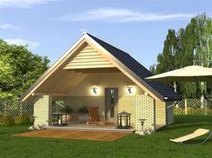 Foisor cu acoperis comun cu al casei 20 M2, Contemporary, Modern, Portal, Gazebo, Shed, Outdoor Structures, Cabin, Studio