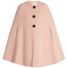 Roksanda Ofili oversized-button wool and mohair-blend cape