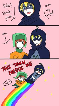 your smarticles is needed by azngirlLH on DeviantArt Kyle South Park, Creek South Park, Anime Chibi, Nyan Nyan, South Park Anime, Wild Fire, Little Sisters, Dankest Memes, Fan Art