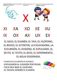 Cartilla de Lectura en Mayúsculas Spanish 1, I School, Learning Spanish, Learning Activities, Acting, Kindergarten, Homeschool, Language, Education
