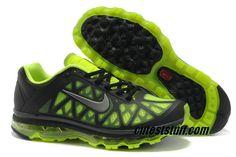 Mens Nike Air Max 2011 Black Volt Silver Sneakers       #Volt  #Womens #Sneakers