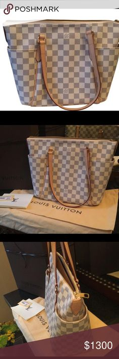 Louis Vuitton Pm Totally Damier Azul Authentic Louis Vuitton totally Pm Azur Damier ! All you need for spring and summer .. bran new never been use . Comes with dust bag, receipt and tags ! Louis Vuitton Bags Shoulder Bags
