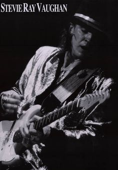 A great portrait poster of Stevie Ray Vaughan! One of the greatest blues men to ever pick up a guitar, SRV played the Fender Stratocaster like no one else! Ships fast. 23x33 inches. Check out the rest
