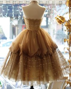 Vintage gold party dress