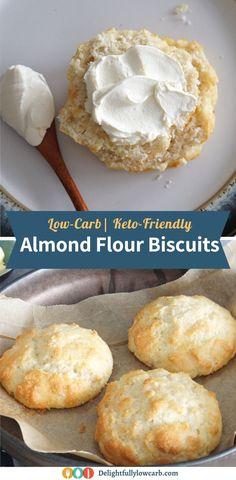 Almond Flour Biscuits, Almond Flour Recipes, Keto Biscuits, Homemade Biscuits, Almond Meal, Low Carb Bread, Keto Bread, Low Carb Keto, Low Carb Biscuit