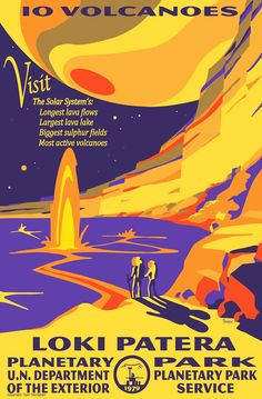 Fantastic collection of planetary posters from astronomer and artist Tyler Nordgren of the University of Redlands in California.