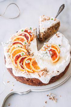 Rezept für den saftigsten Orangen-Möhrenkuchen.