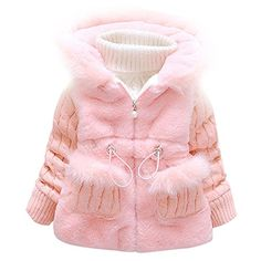 Baby and Little Girls Toddler Kids Winter Coat Jacket Outwear10Pink * Click image for more details. (This is an affiliate link) #BabyGirlHoodiesActive