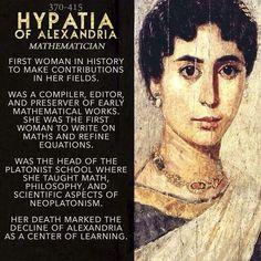 Hypatia of Alexandria mathematician - so may unheard of women! Hypatia of Alexandria mathematician - so may unheard of women! Great Women, Amazing Women, Historical Quotes, Historical Women, Badass Women, Fierce Women, Stephen Hawking, Women In History, Ancient History