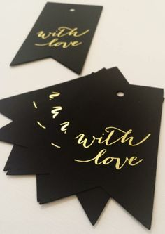 amazing gold foiled labels, perfect for any gift! get them from watermark stationery's retail studio http://watermarkstationery.com/