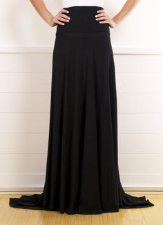 Chanel Silk Black Evening Skirt