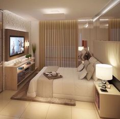 This is a Bedroom Interior Design Ideas. House is a private bedroom and is usually hidden from our guests. Much of our bedroom … Home Interior Design, House Design, Interior Design, Home, Bedroom Design, Home Bedroom, Home Decor, Small Apartments, Room